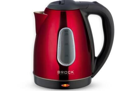 Brock Ηλεκτρικός Βραστήρας Νερού 1.8lt 1500W σε Κόκκινο χρώμα
