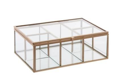 Γυάλινη Κοσμηματοθήκη Μπιζουτιέρα σε ορθογώνιο σχήμα