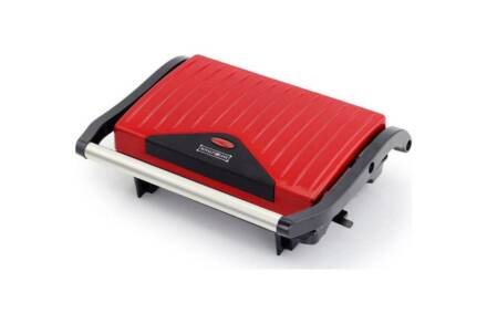 Royalty Line Τοστιέρα Σαντουιτσιέρα 750W Panini maker με Αντικολλητικές πλάκες σε Κόκκινο χρώμα