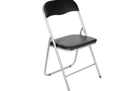 Πτυσσόμενη καρέκλα με πλαστικό κάθισμα και πλάτη