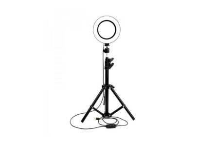Επαγγελματικό Φωτογραφικό Δαχτυλίδι Ring Light 26 cm με Τρίποδο 156 cm και Βάση κινητού - Aria Trade