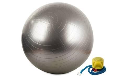 Φουσκωτή μπάλα γυμναστικής για Yoga και Pilates διαμέτρου 65cm μαζί με τρόμπα