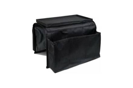 Θήκη για γωνία καναπέ ή πολυθρόνα για τηλεκοντρόλ και άλλα αντικείμενα σε μαύρο χρώμα