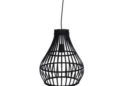 Μοντέρνο Φωτιστικό Κρεμαστό Μπαμπού σε Μαύρο χρώμα - Cb