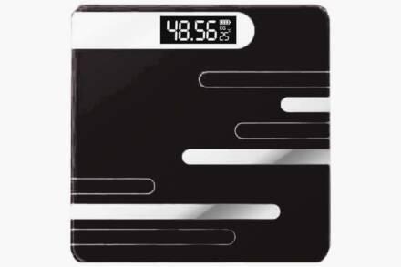 Γυάλινη Ψηφιακή Ζυγαριά Μπάνιου έως 180kg σε χρώμα Μαύρο