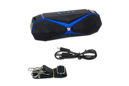 Ασύρματο Bluetooth ηχείο 8W με ραδιόφωνο σε μαύρο μπλε χρώμα