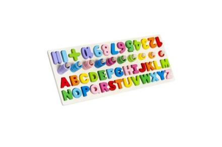 Ξύλινο Εκπαιδευτικό παιχνίδι εκμάθησης με γράμματα