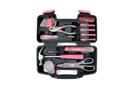 Kinzo Ladies σετ εργαλειοθήκη 39 τεμαχίων για κορίτσια σε ροζ χρώμα