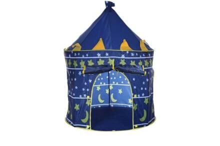 Play tent Παιδική σκηνή Μπλε Κάστρο με πόρτα και παράθυρο