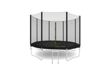 Τραμπολίνο με δίχτυ ασφαλείας διαμέτρου 305cm και σκάλα σε μαύρο χρώμα