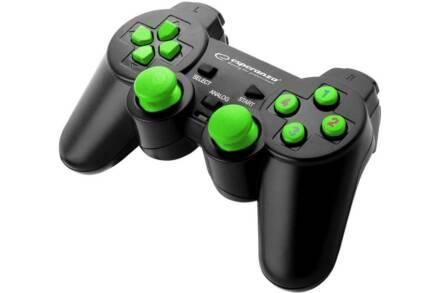 Esperanza Ενσύρματο Χειριστήριο Gamepad USB Warrior σε μαύρο χρώμα