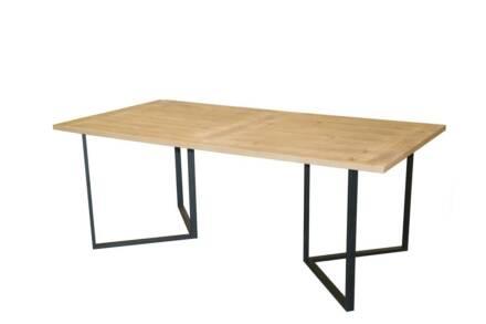 Ξύλινο Ορθογώνιο Τραπέζι με μεταλλική βάση