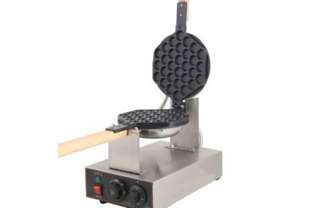 Συσκευή Παρασκευής Βάφλας Bubble Waffle από Ανοξείδωτο Ατσάλι Ισχύος 1300W