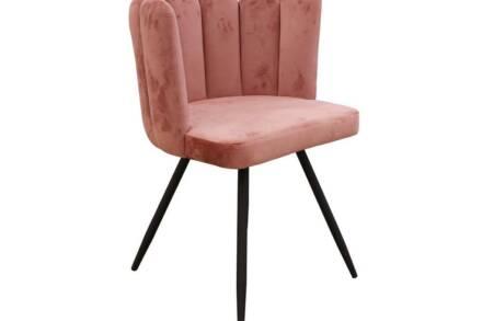 Πολυθρόνα σαλονιού με μοντέρνο σχέδιο σε ροζ χρώμα