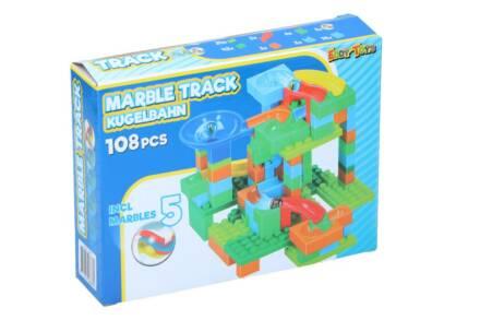 Σετ Πλαστικά Τουβλάκια 108 τεμαχίων με 5 Βόλους για ατέλειωτες ώρες Παιχνιδιού και Δημιουργίας 26686 - Eddy Toys