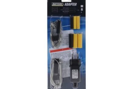 Μετατροπέας Αντάπτορας μπαταριών 220V για φωτιζόμενες συσκευές με ήχο και κίνηση